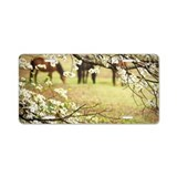 Spring scene of distant hor Aluminum License Plate