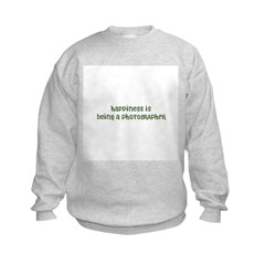 Happiness is being a PHOTOGRA Kids Sweatshirt