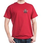 Masonic Small Silver S&C Dark T-Shirt