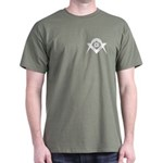 Masonic White S&C Dark T-Shirt