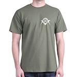 Masonic White S&C Dark T-Shirt
