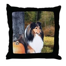 Autumn Sheltie Throw Pillow