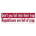 Republicans are full of Bumper Sticker
