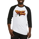 chimpin design on white Baseball Jersey