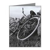 Bicycle Leaning Against Rock Note Cards (Pk of 20)