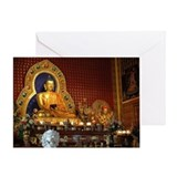 Beautiful statues of Lord Buddha in  Greeting Card