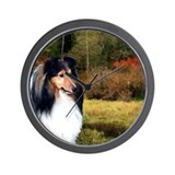 Autumn Sheltie Wall Clock