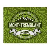Mont-Tremblant Green Throw Blanket