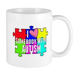 I Heart (love) Somebody With Autism Mug