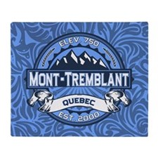 Mont-Tremblant Blue Throw Blanket