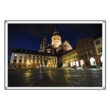Mainz at night, Germany Banner