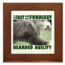 Beardie Agility! Framed Tile