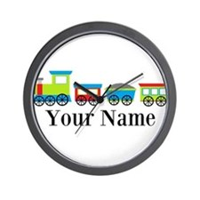 Personalizable Train Cartoon Wall Clock