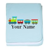 Personalizable Train Cartoon baby blanket