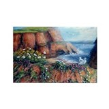 Red Cliffs of Devon Rectangle Magnet