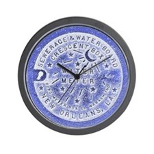 Water Meter Lids Wall Clock