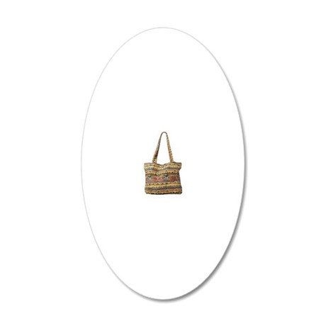 ladies hand bag 20x12 Oval Wall Decal