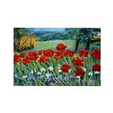 Parrot Tulips & Windflowers Rectangle Magnet