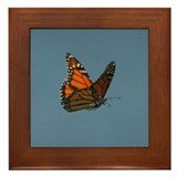 Monarch Butterfly Flying Framed Tile