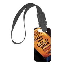 Gold bar Luggage Tag