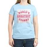 World's Greatest Grammy Women's Pink T-Shirt