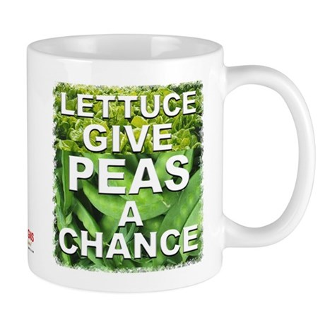 """Give Peas a Chance"" Mug"