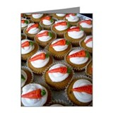 Carrot cupcakes with cream c Note Cards (Pk of 20)