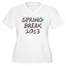 Spring Break 2013 Plus Size T-Shirt
