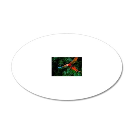 Fight of Macaw 20x12 Oval Wall Decal