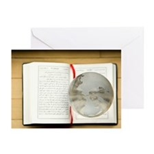 Globe hovering over the  Greeting Cards (Pk of 10)