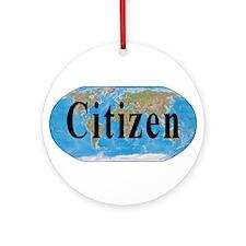 World Citizen Ornament (Round)