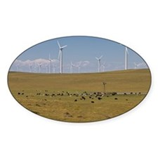 Wind farm in rural Colorado c Decal