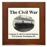 Fort Lincoln Civil War Infantry Framed Tile