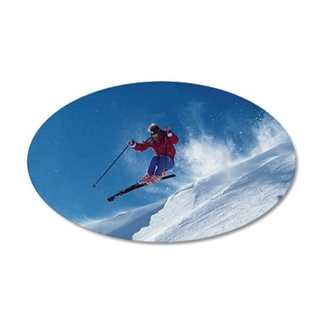 Ski 35x21 Oval Wall Decal