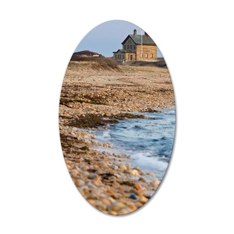 North Lighthouse. Block Isla 35x21 Oval Wall Decal