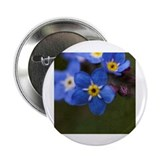 "Forget me not flowers 2.25"" Button (10 pack)"