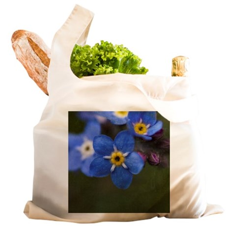 Forget me not flowers Reusable Shopping Bag