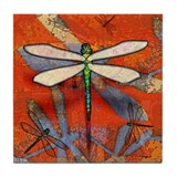 Dragonfly Art Tile