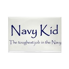 Navy Kid Rectangle Magnet