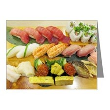 Different Types of Sushi Note Cards (Pk of 20)
