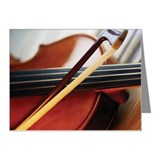 Close-up of violin and violi Note Cards (Pk of 20)