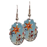 Street furniture. Earring Oval Charm