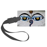 Buddha Eyes on Stupa, Ngadi Baza Luggage Tag