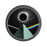 Eclipse over Pyramid Wall Clock
