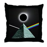 Eclipse over Pyramid Throw Pillow