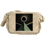 Eclipse over Pyramid Messenger Bag