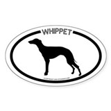"""Whippet"" White Oval Decal"