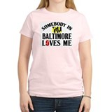 Somebody In Baltimore Women's Pink T-Shirt