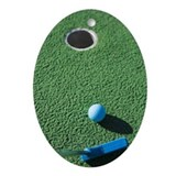 Putter, golf ball and hole Ornament (Oval)
