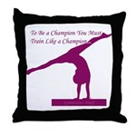 Gymnastics Throw Pillow - Champ